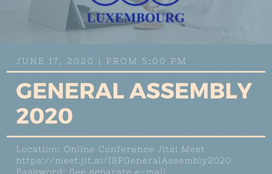 New IBF Luxembourg board elected during AGM 2020!